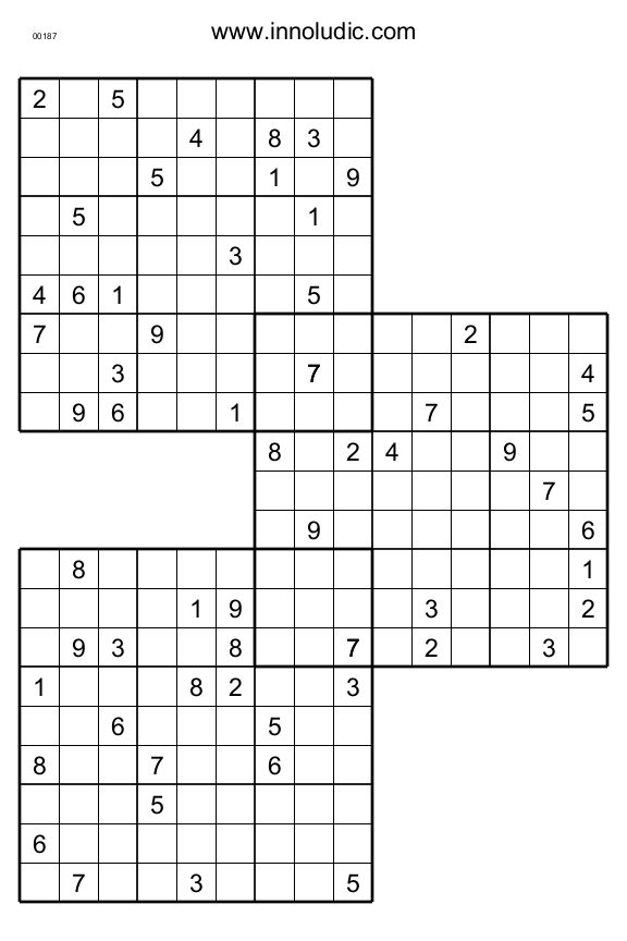 picture about Multi Sudoku Printable identified as Trio